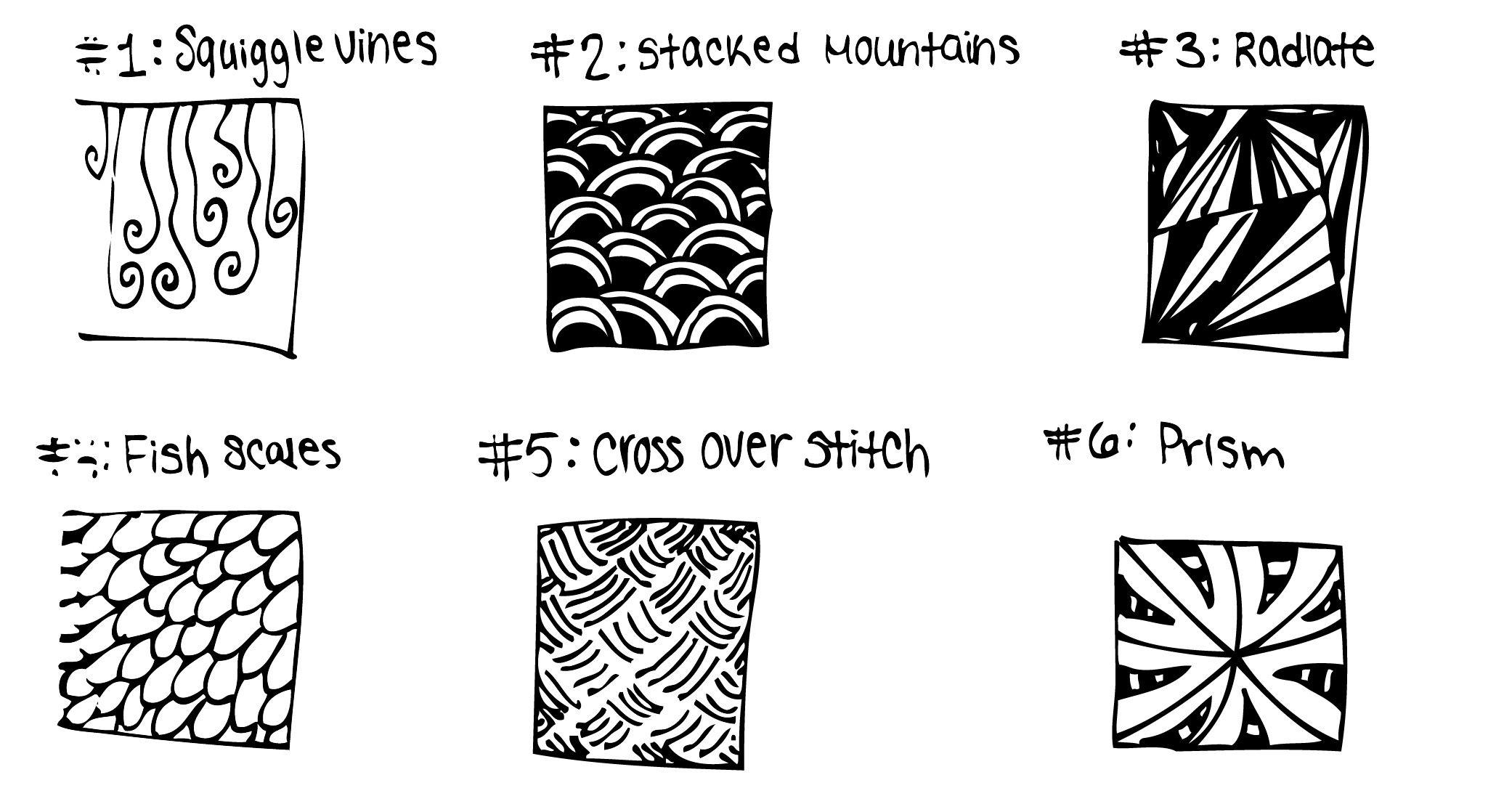 Zentangle Pattern Ideas Awesome Ideas