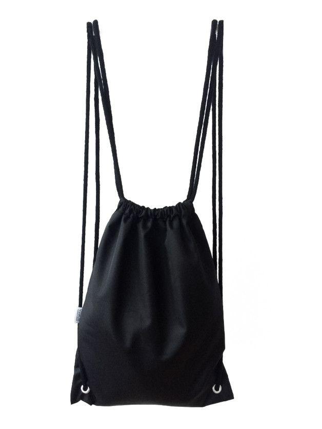 Czarny Nieprzemakalny Plecak Worek Bags Drawstring Backpack Backpacks