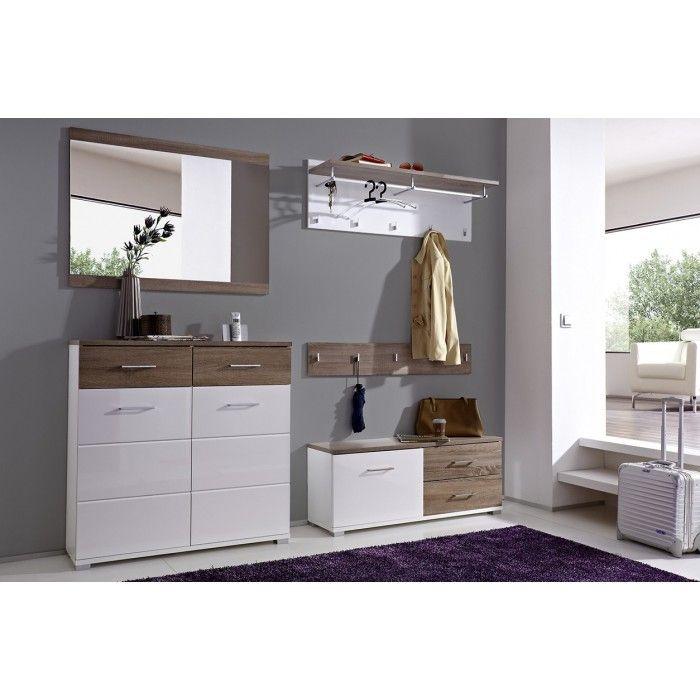 Complete schoenenkast hal meubel garderobe hoogglans wit gang pinterest schoenenkast - Moderne entree decoratie ...