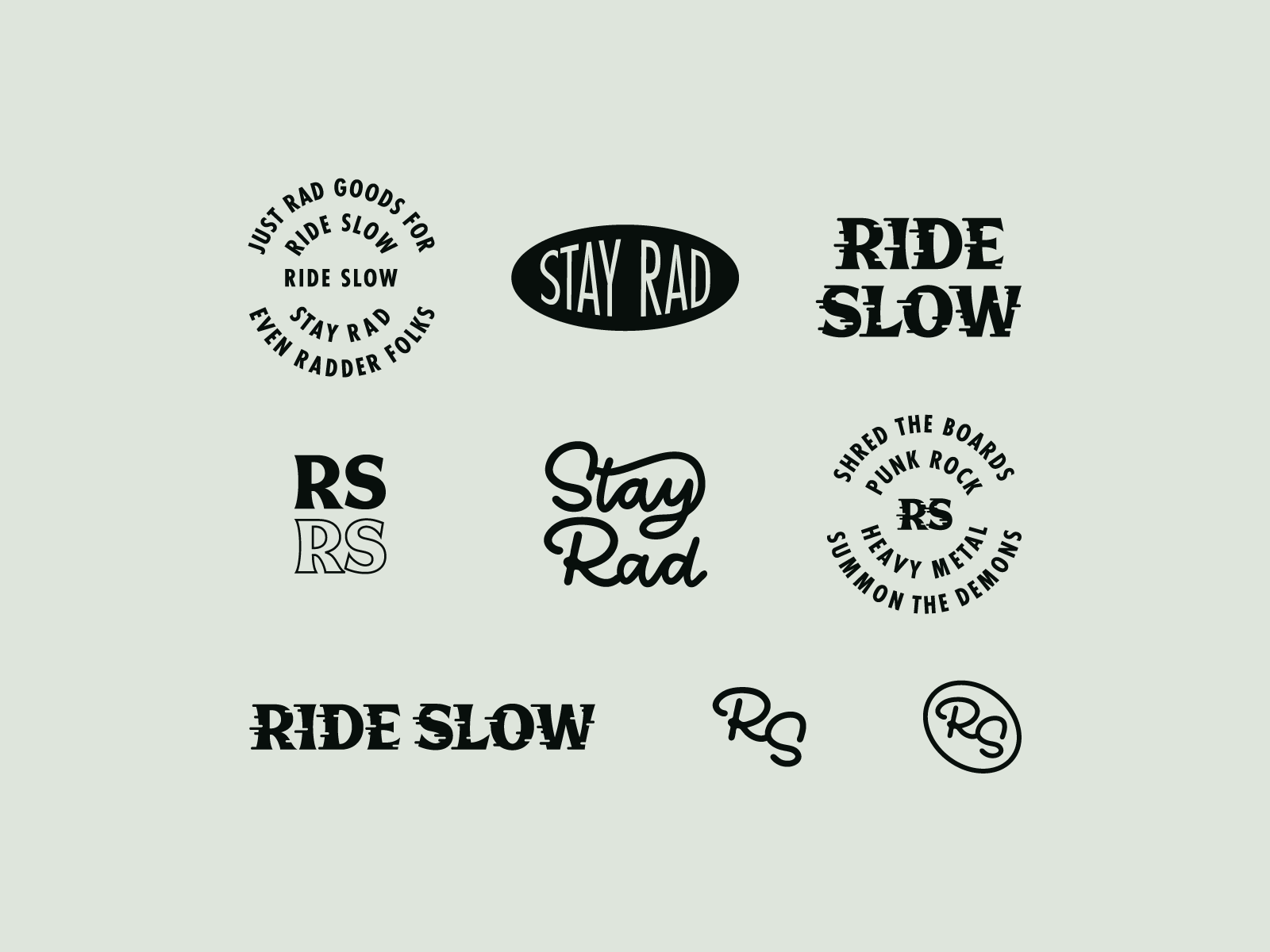 Ride Slow Brand Crumbs Riding Slow Fortune