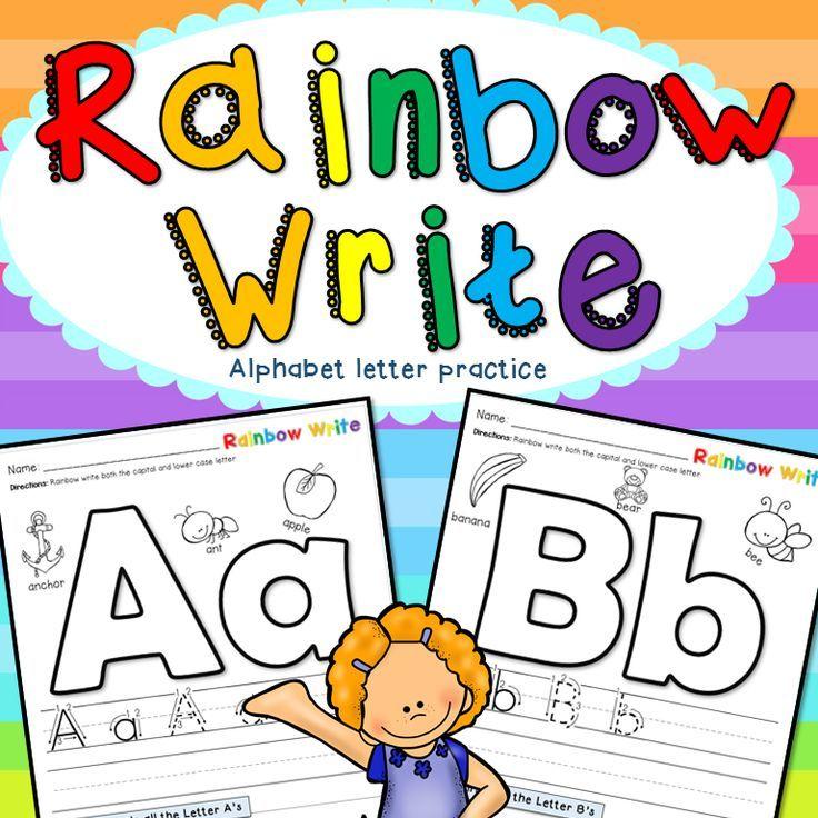 Rainbow write: alphabet