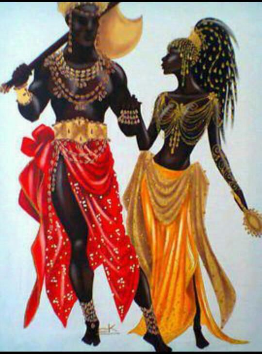 Black Loveher King And His Queen Orishas Gods Goddess