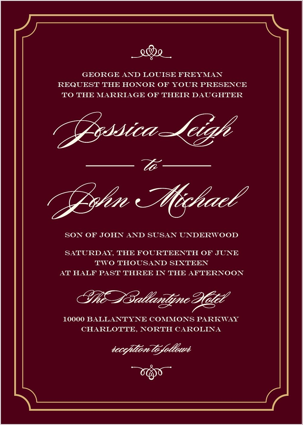 Elegant Script Foil Wedding Invitations | Wedding ideas | Pinterest ...