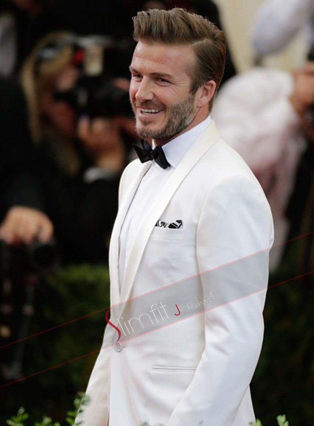 Ivory White David Beckham Suit | Celebrity | Pinterest | David ...