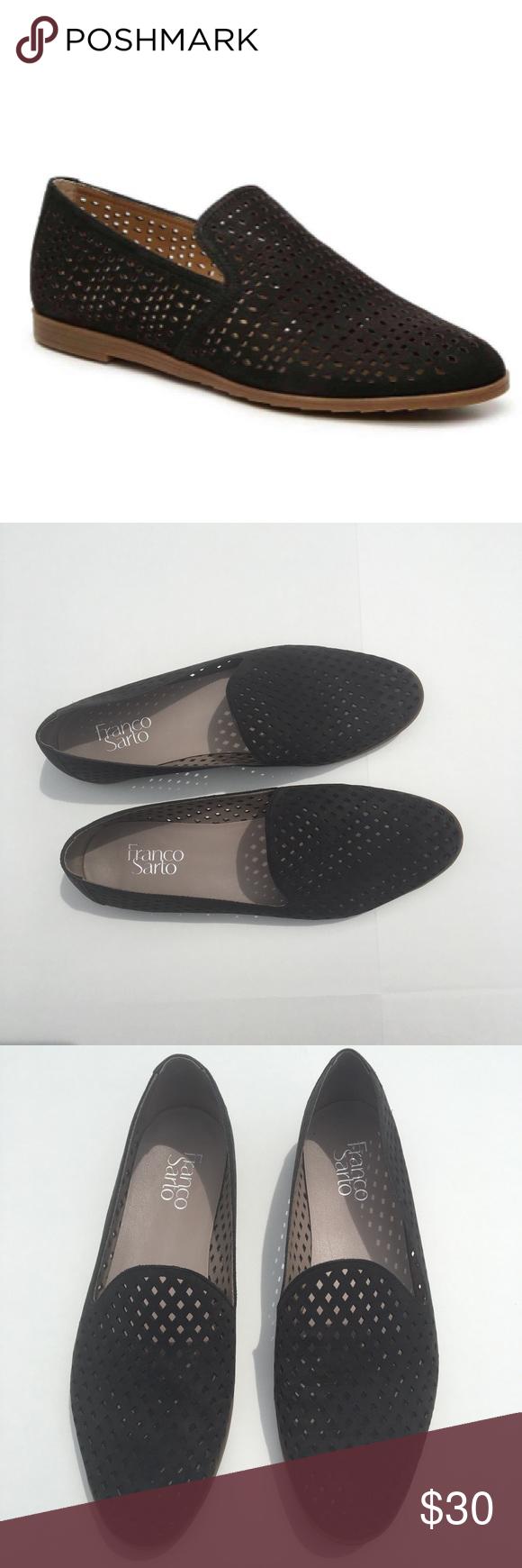 562327683c8 Franco Sarto Faryn Loafers - Black Laser Cut Faryn loafer by Franco Sarto  in black suede