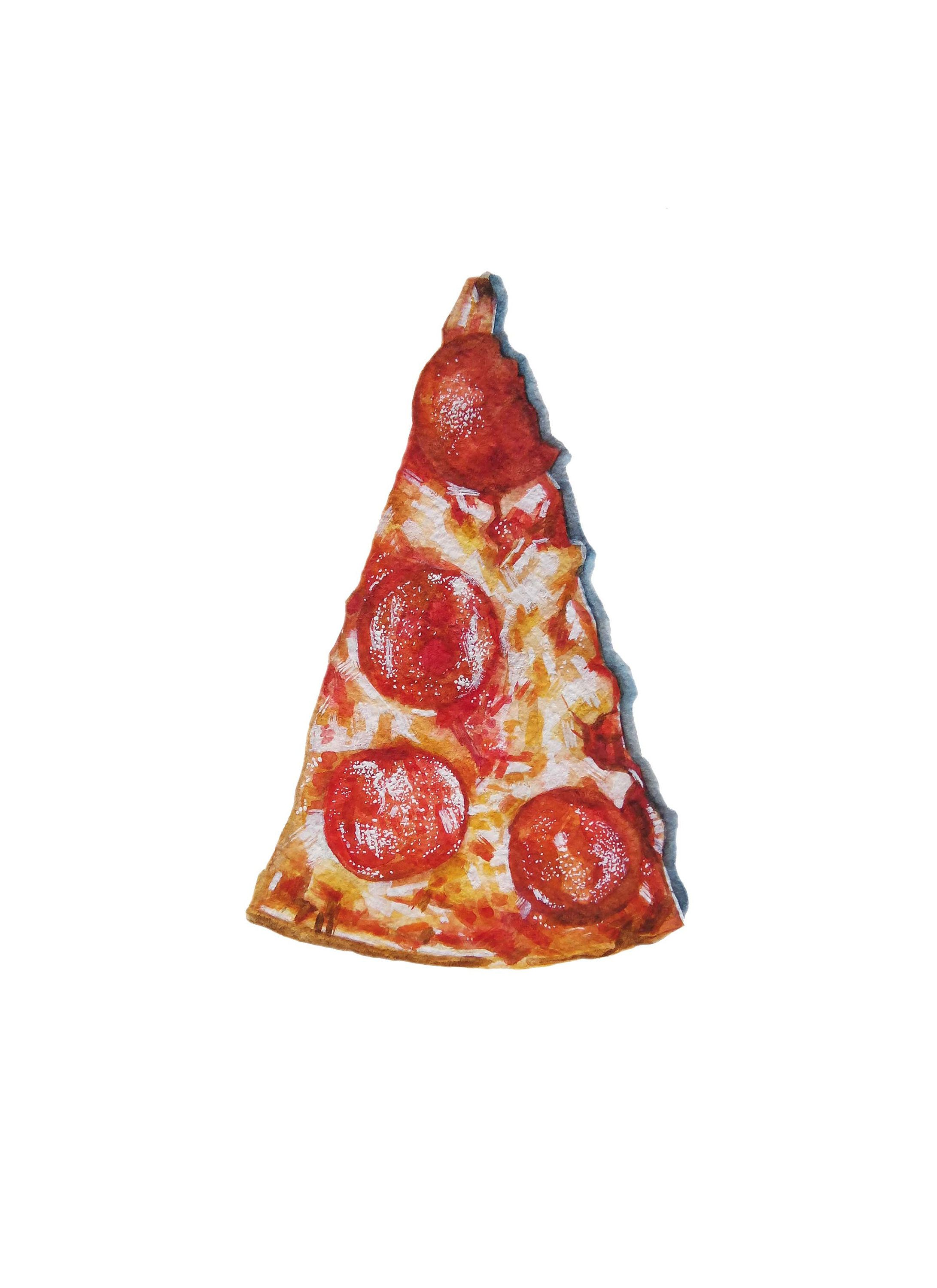 Pizza watercolor x printable instant download food painting