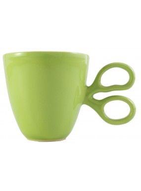 Taza Entrecortada Verde de Selección tazas en el bazar en Línea - Sacional