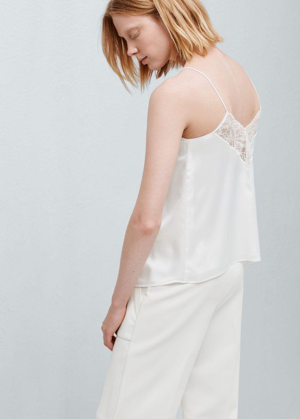 wit shirt met kant