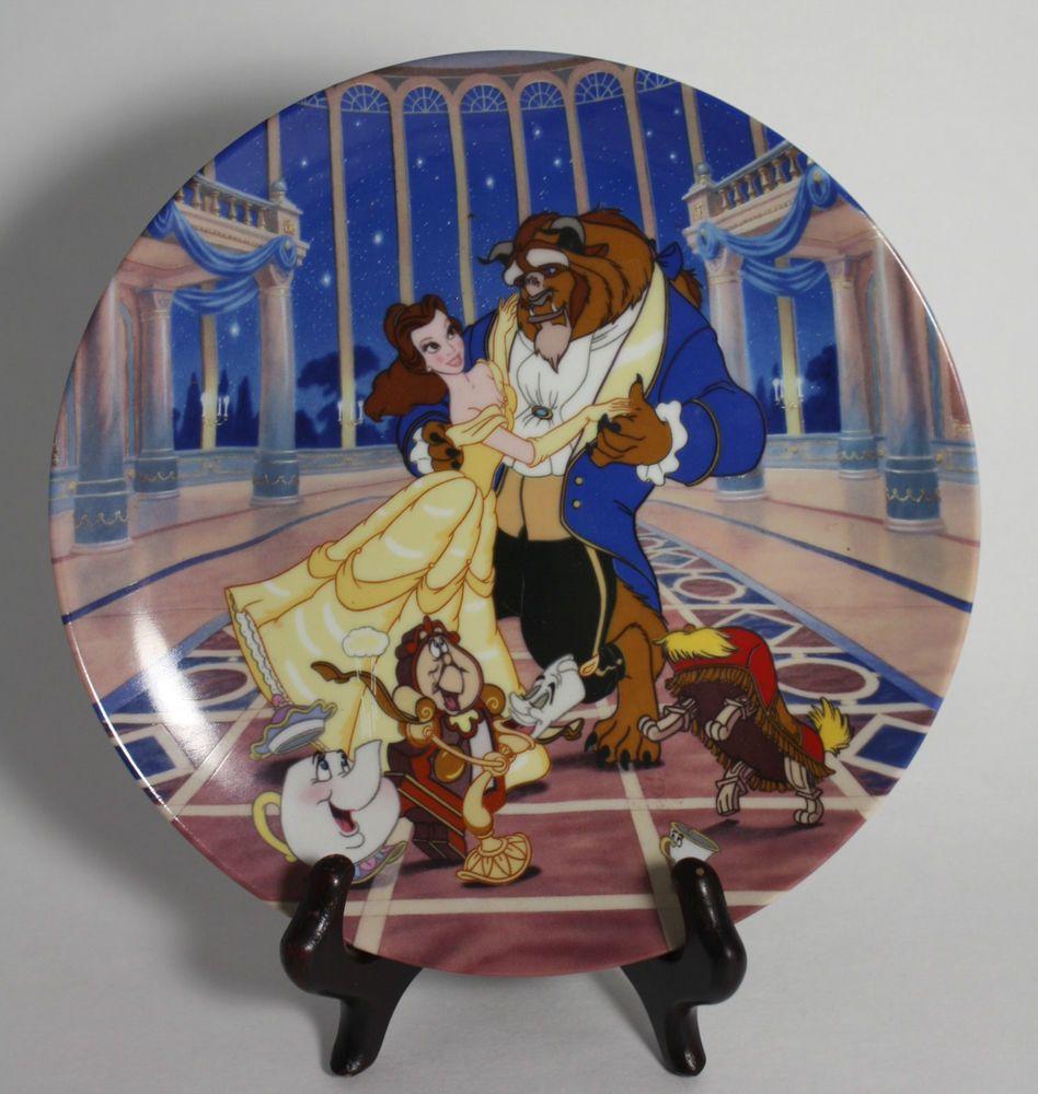 Vintage 1992 Disney Beauty & The Beast Decorative Wall Plate ...