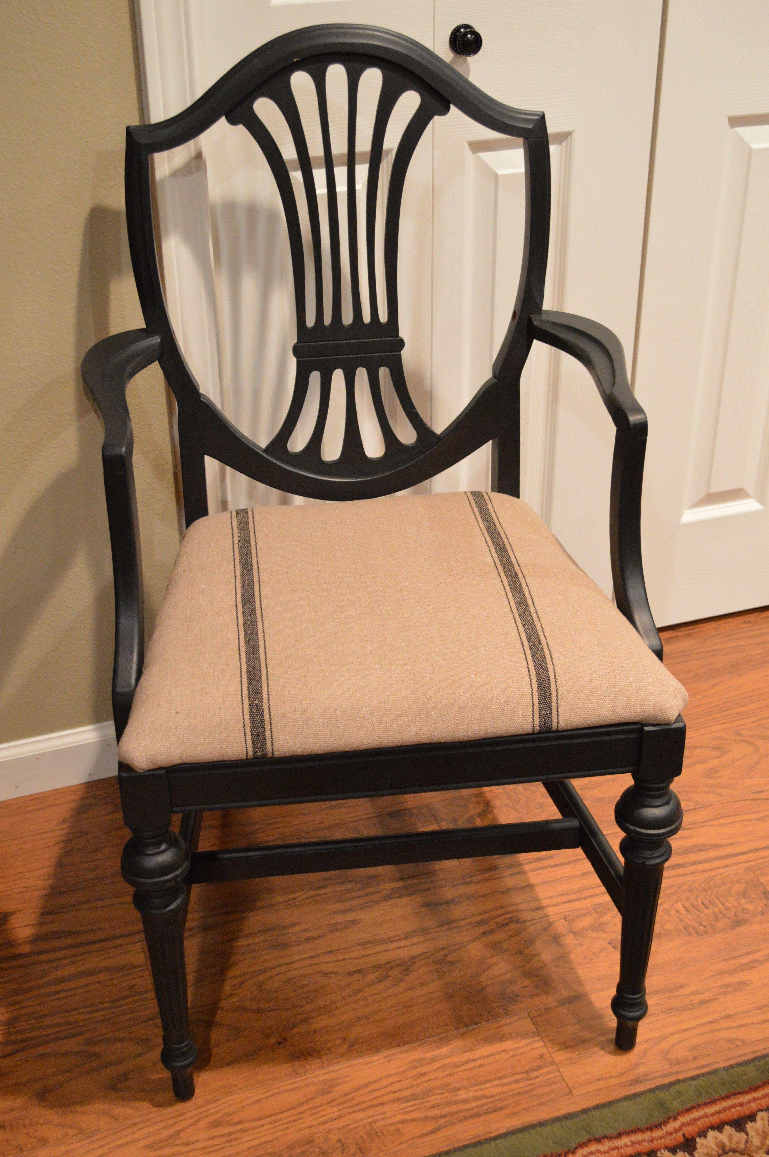 Up Cycled Antique Shield Back Head Chair Painted With Maison