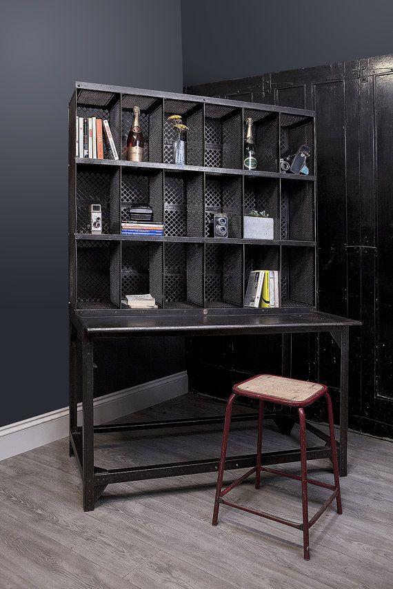 Reclaimed Vintage French Postal Desk And Pigeon Hole Storage Guide Price Only Vintage Desk Comfortable Desk Storage