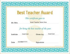 Best teacher award certificate template for ms word download at best teacher award certificate template for ms word download at httpcertificatesinn yadclub Gallery