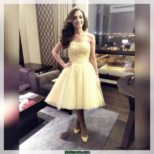 فساتين قصيره دانتيل منفوشه Prom Dresses Yellow Yellow Homecoming Dresses Prom Dresses Short