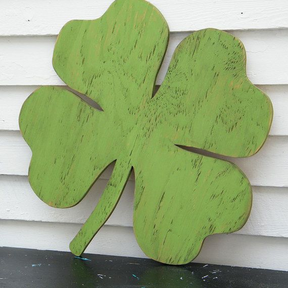 Shamrock Wood Sign Lucky Four Leaf Clover St by SlippinSouthern, $79.00