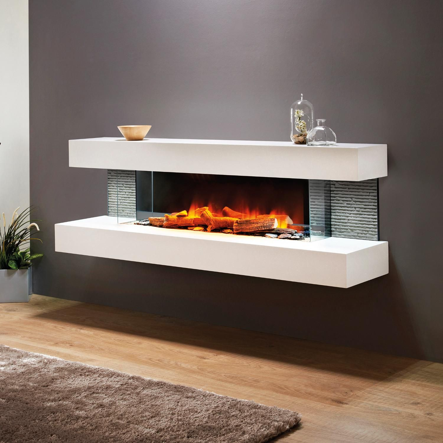 Evolution Fires Efv72w Vegas 72 Inch Wall Mount Electric Fireplace White Bbqguys Wall Mount Electric Fireplace Wall Mounted Electric Fires Electric Fireplace Wall