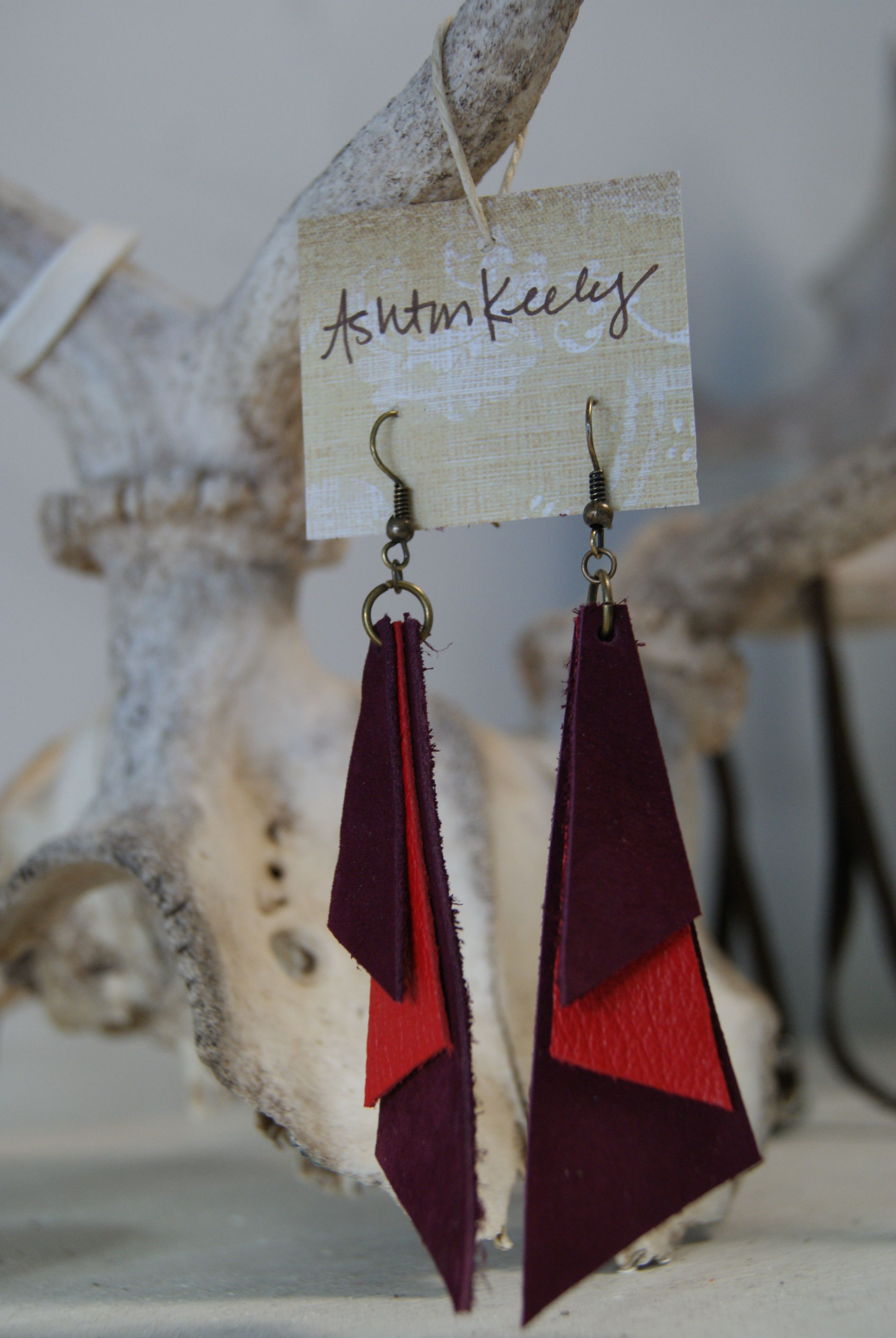 Photo of www.facebook.com/… Hand made leather jewelry with a bit of the 80's…. only b…