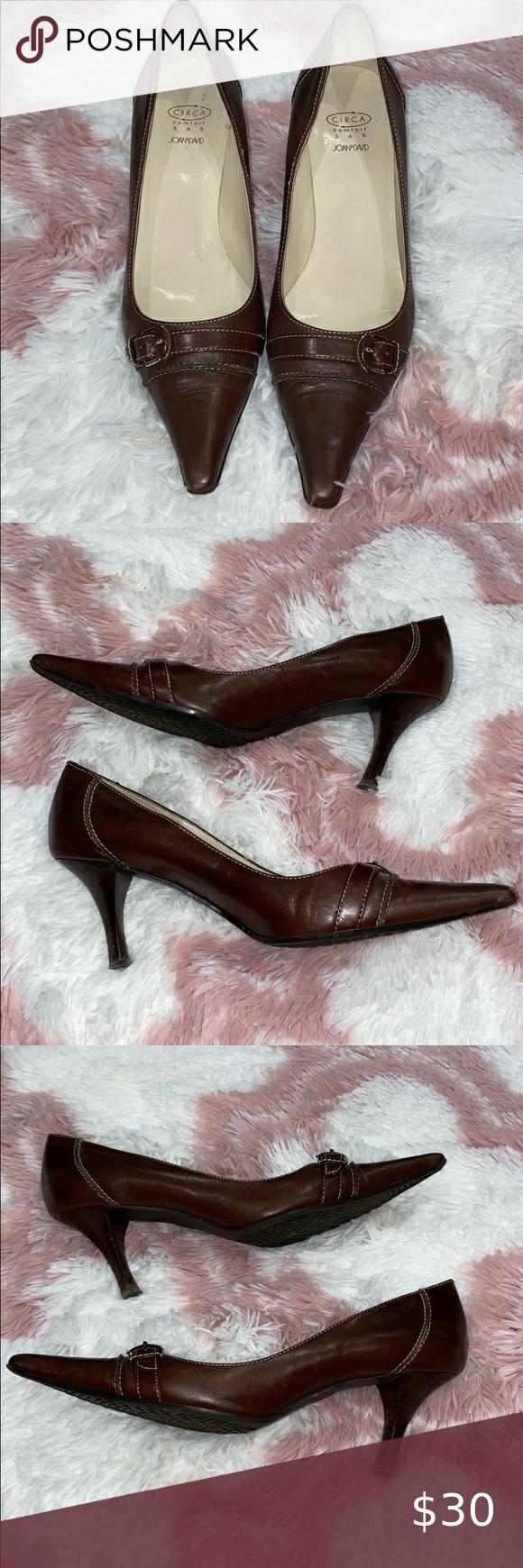 Joan David Buckle Pointed Kitten Heels In 2020 Heels Kitten Heels Shoes Women Heels