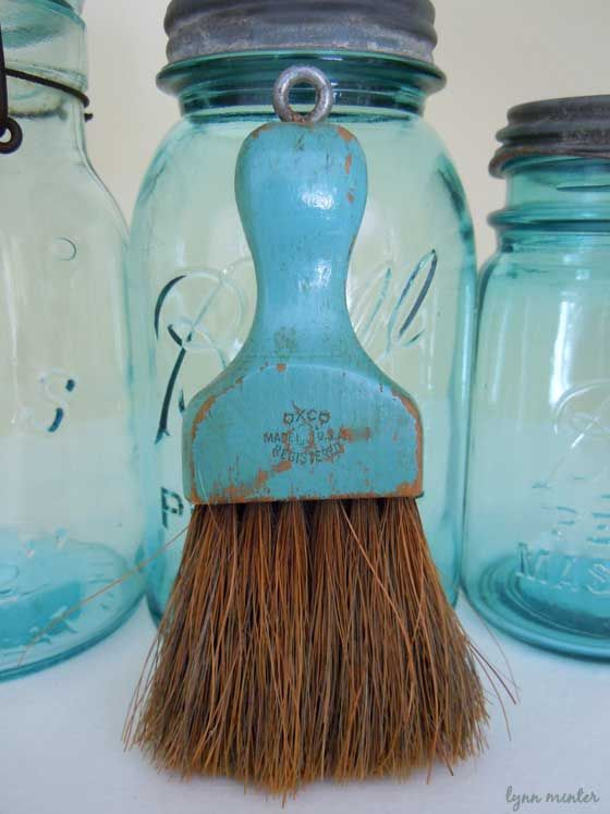 I love the ball jars which I collect and the cute whisk broom, I ...