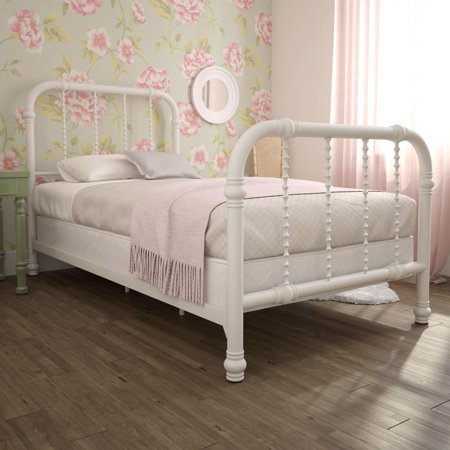 Home in 2020 Bed slats, White metal bed, Metal beds
