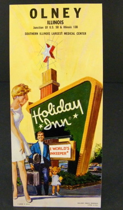 Advertising Rack Card For Holiday Inn In Olney Il