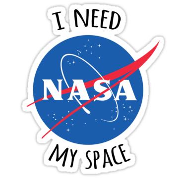 I Need My Space (NASA) Sticker by eeyebrows