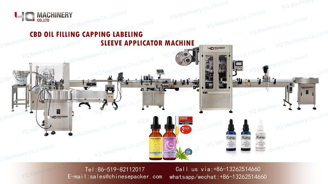 30ml bottling machine for hemp oil|CBD bottle feeder filler capper label...