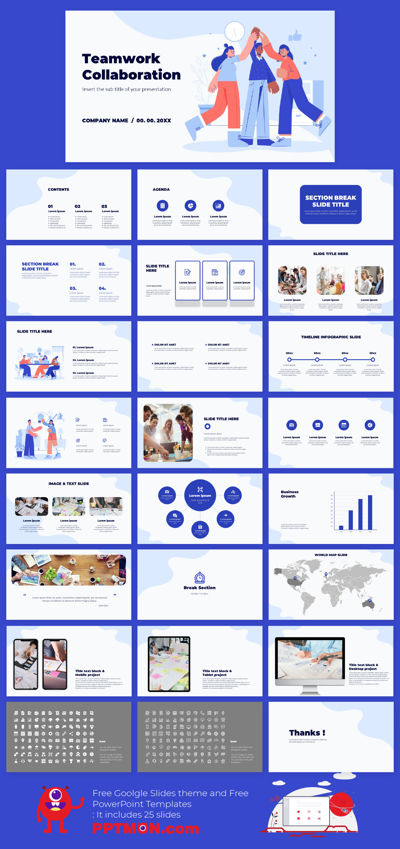 Teamwork Collaboration Presentation Design Free Powerpoint Template And Google Sl Teamwork And Collaboration Powerpoint Templates Powerpoint Design Templates