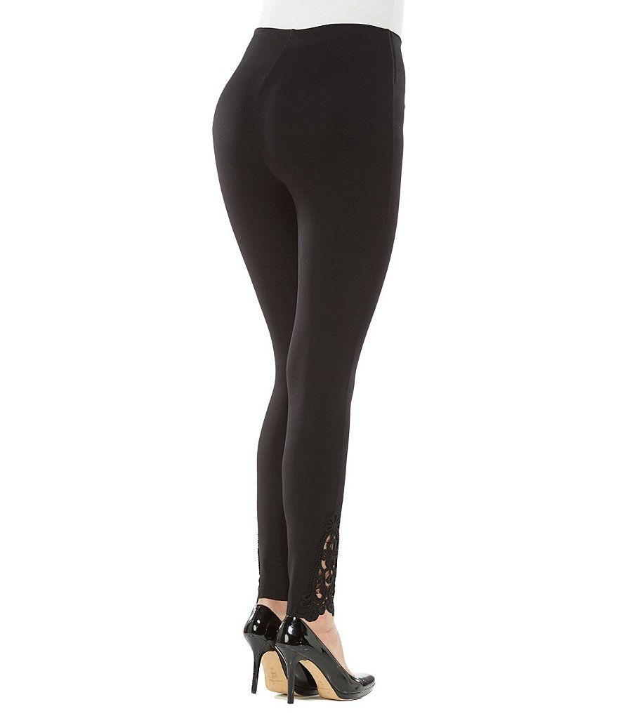 7b1b9738d897fe Nygard SLIMS Petites Luxe Ponte Crochet Trimmed Legging#Petites, #Luxe, # Nygard