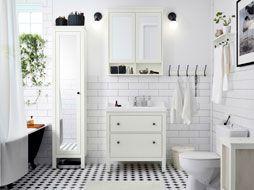 Un bagno luminoso | Shabby chic | Pinterest | Banheiros, Sítio e ...