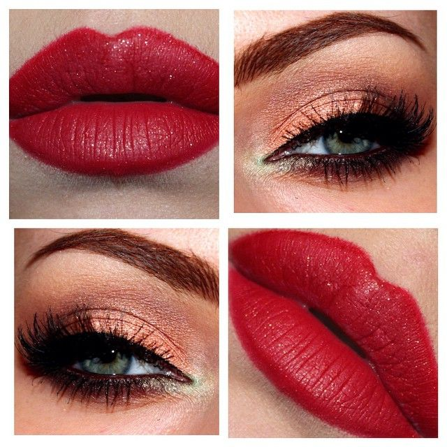 Red lips and magic eyes