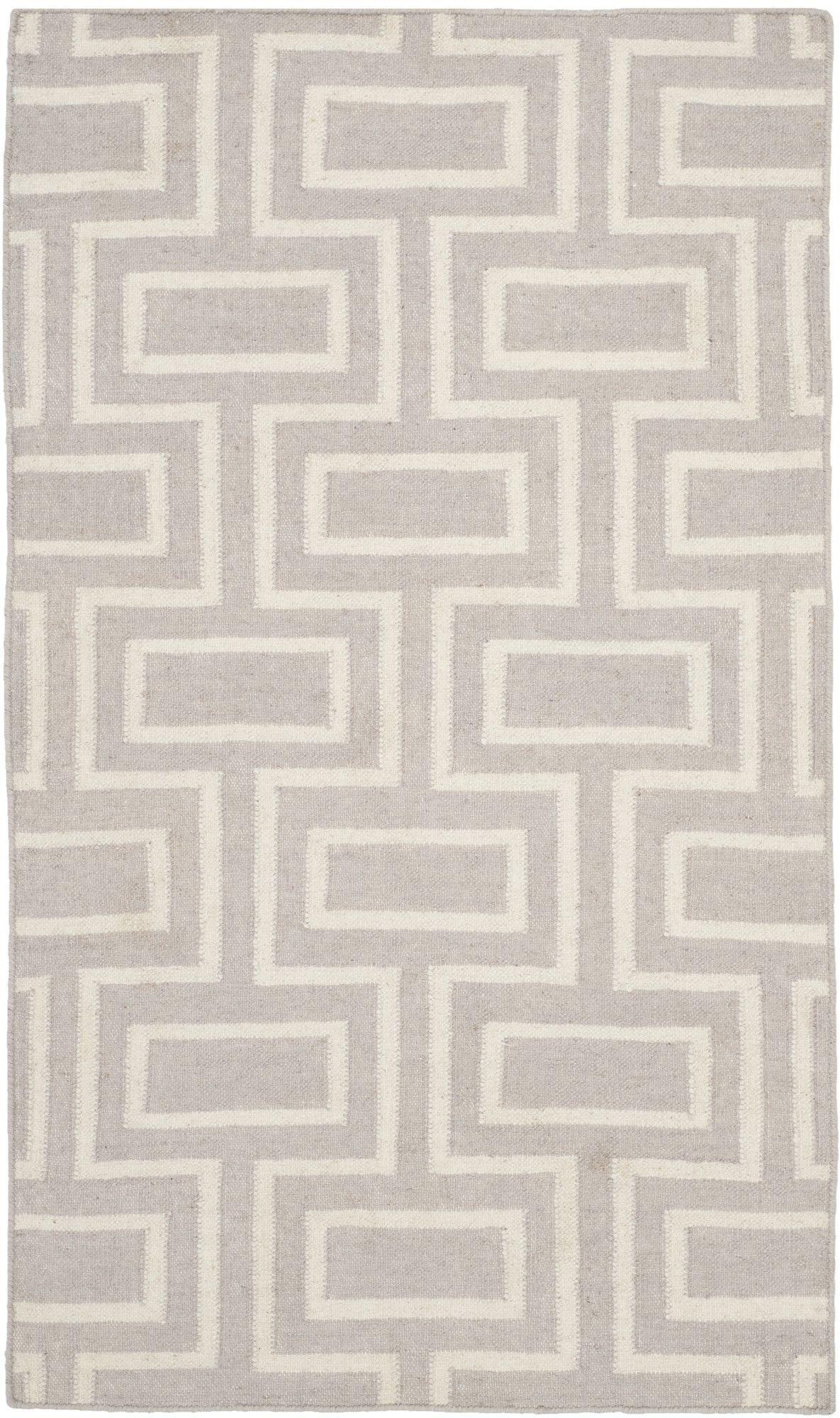 Dhurries Grey Ivory Area Rug Ii Flat Weave Wool Rug Wool Area Rugs Wool Rug