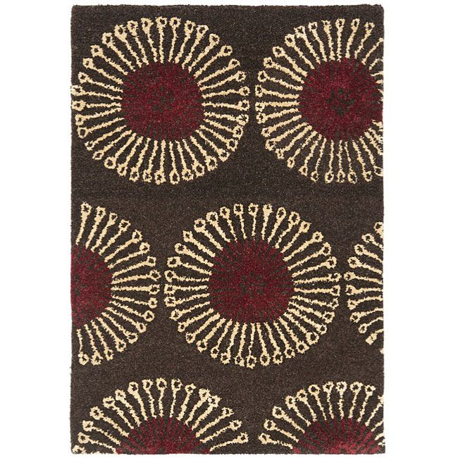 Safavieh Handmade Soho Zen Coffee/ Brown New Zealand Wool Rug (2' x 3'), Size 2' x 3'