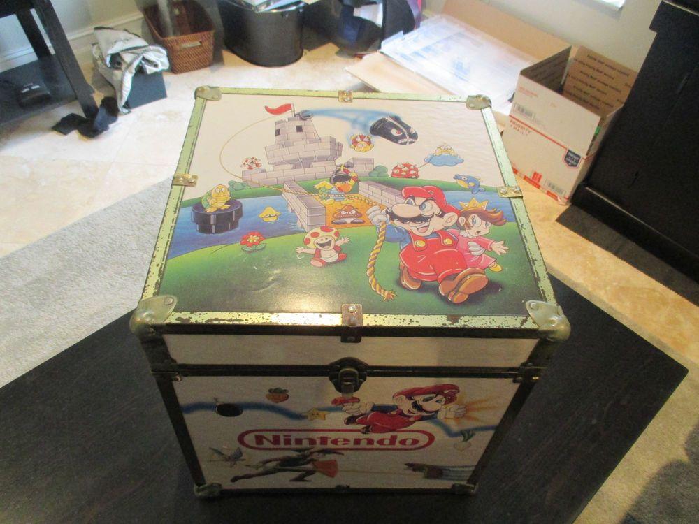 Vintage Nintendo Super Mario Zelda Storage Trunk Locker Box Toy Chest Man Cave Super Mario Toys Game Pictures Super Mario