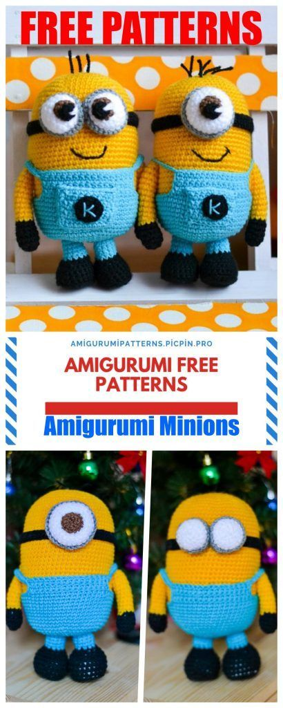 Amigurumi Minion Free Häkelanleitung - Amigurumi Patterns - #Amigurumi #free #Häkelanleitung #Minion #patterns #minioncrochetpatterns