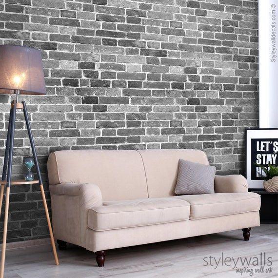 Bricks Wallpaper Black White Gray Brick Pattern Wallpaper Vintage Bricks Self Adhesive Repositionable Peel And Stick Removable Fabric Brick Pattern Wallpaper Brick Wallpaper Grey Brick