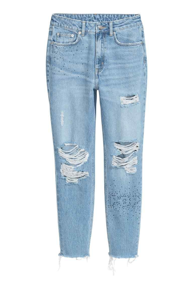 94934edb63c8b Mom Jeans Trashed in 2019 | Want It | Jeans, Distressed jeans outfit ...