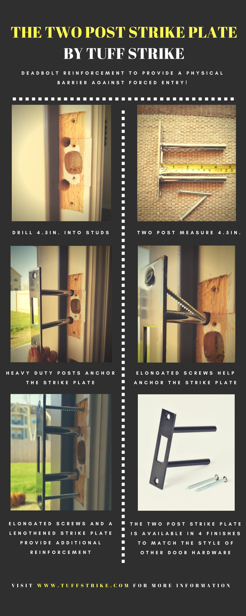 The Two Post Strike Plate Is An Easy To Install Deadbolt Re Home