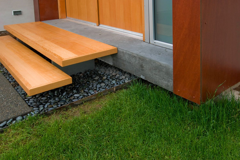 Best Davidson Residence Exterior Floating Steps Detail Porch Steps Modern Front Porches Front 400 x 300