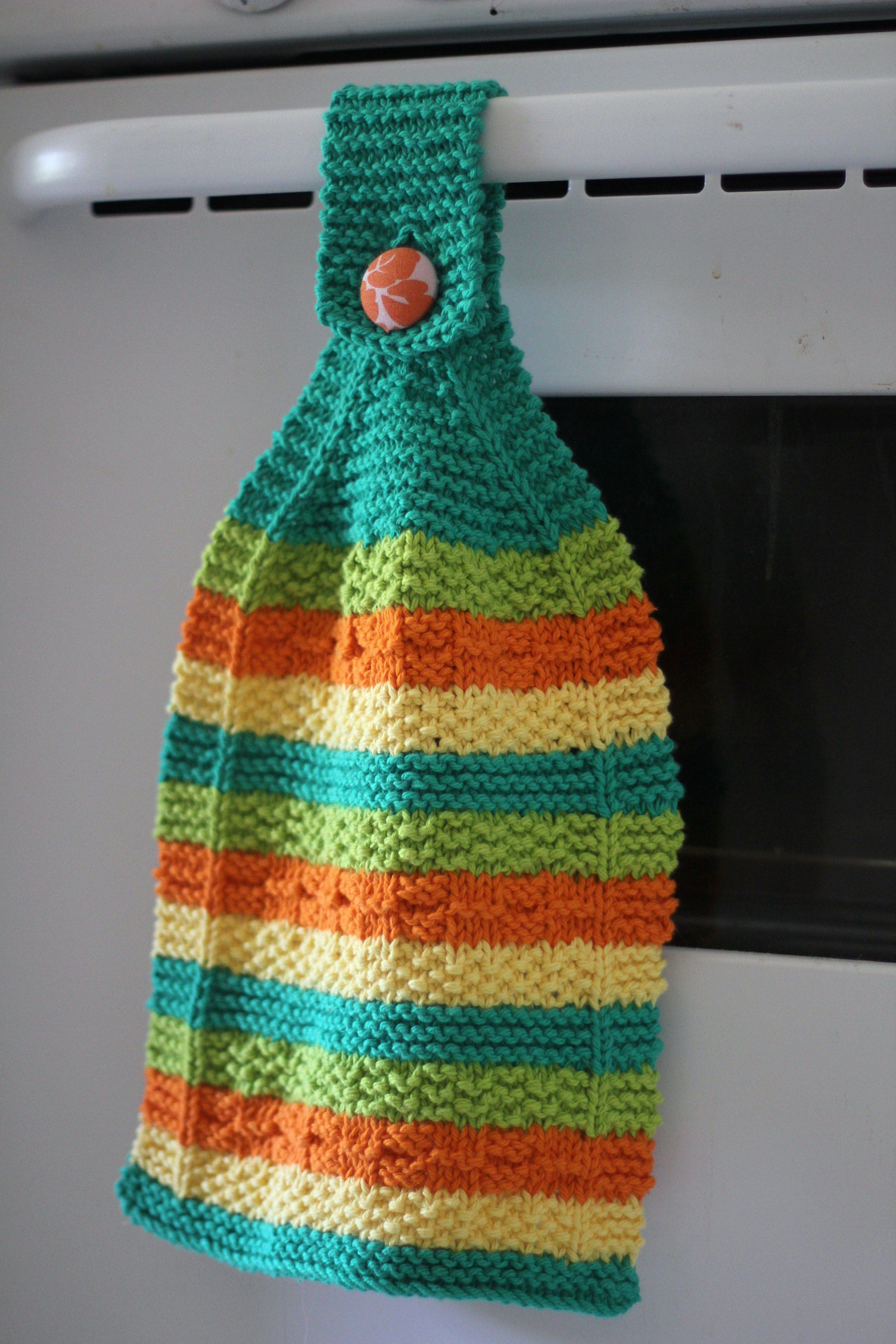 Hanging Dish Towel Knitting Pattern Kitchen Crochet Dishcloths