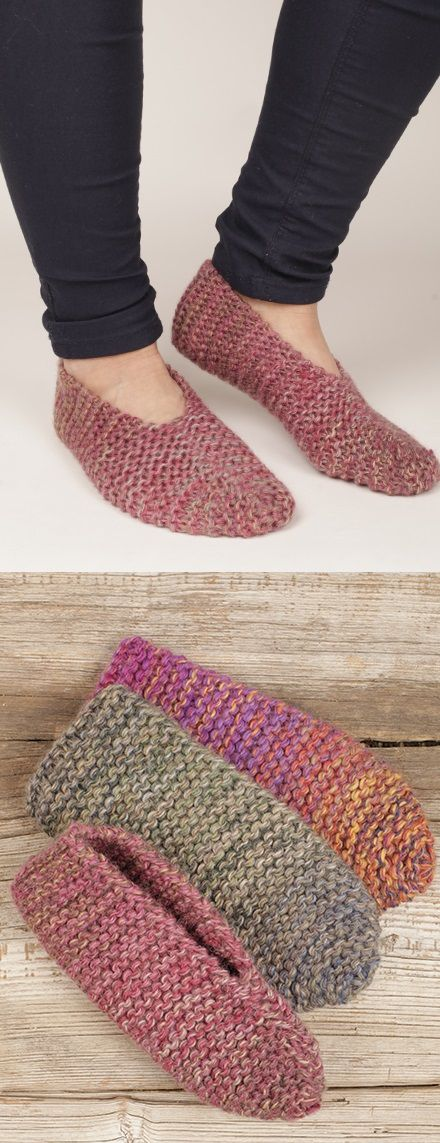 Over 50 Free Knitting Patterns For Slippers Knitting