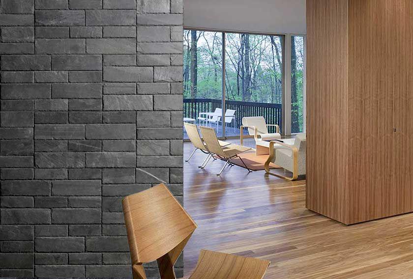 Revêtement de mur pour une entrée de salon avec les panneaux