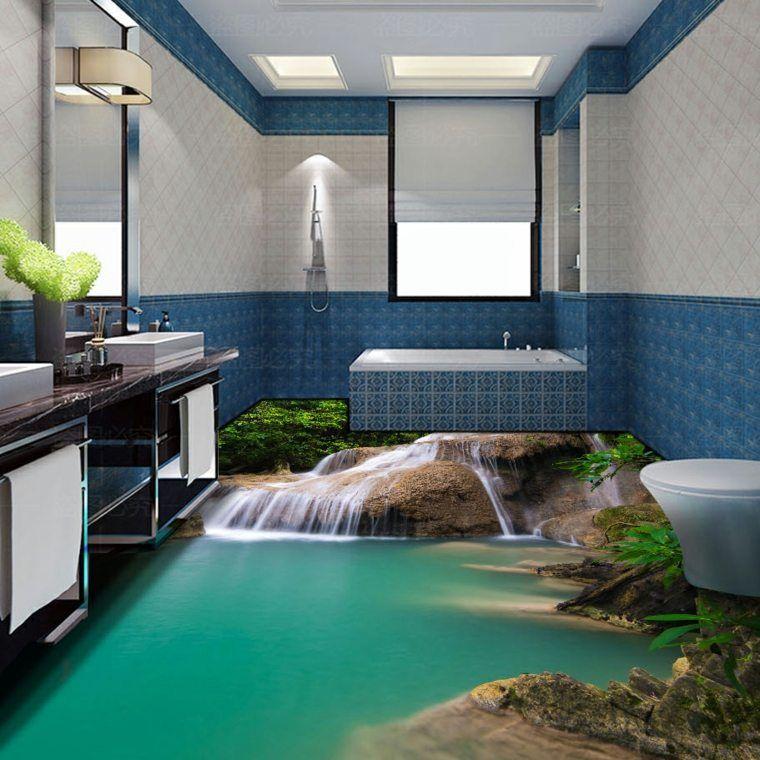 Rev tement de sol id e pour la salle de bain maison Revetement mural pour salle d eau
