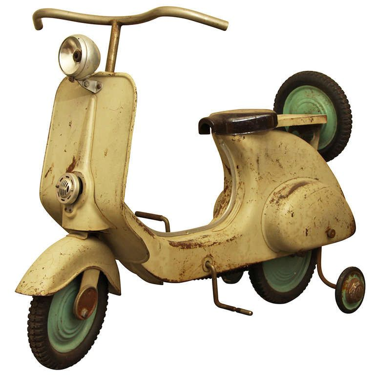 1stdibs.com | Lambretta Toy Italy 1950s - Metal and Tires