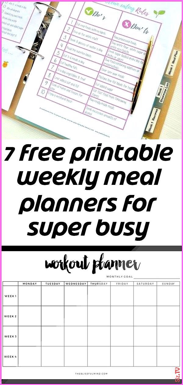 7 free printable weekly meal planners for super busy people 3 7 free printable weekly meal planners...