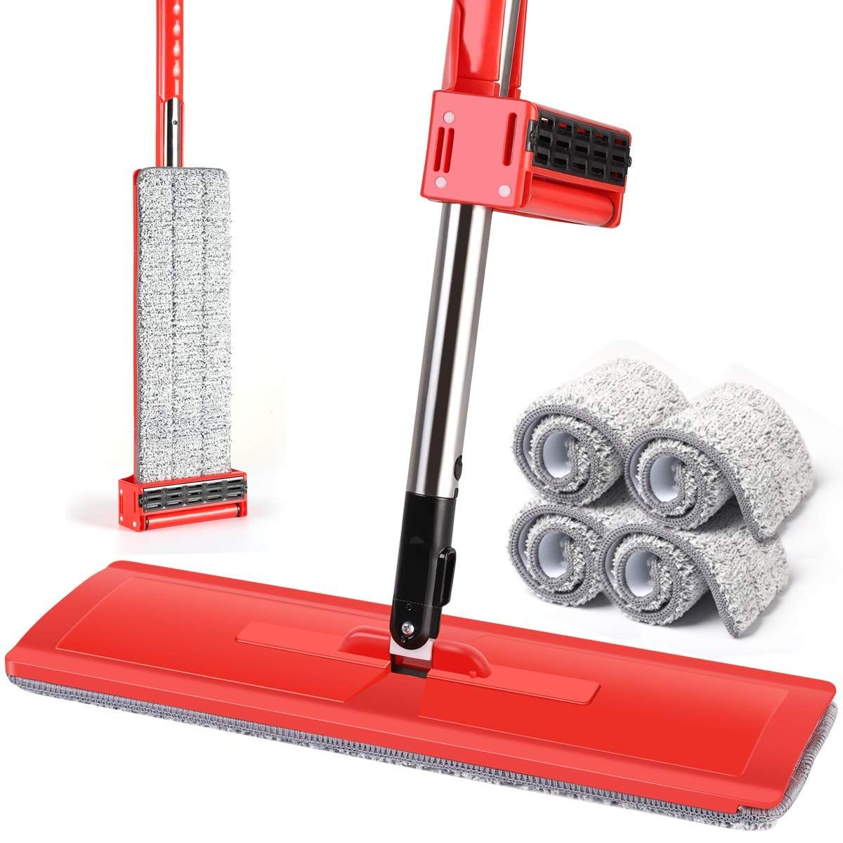 50 Off Self Wringing Mop With Stainless Steel Handle Steel Handle Steel Stainless