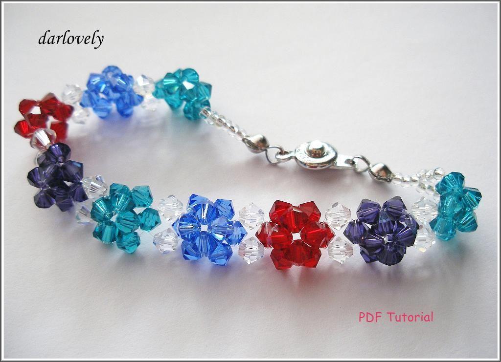 Puffy Flower Bracelet (BB082) | Pulseras