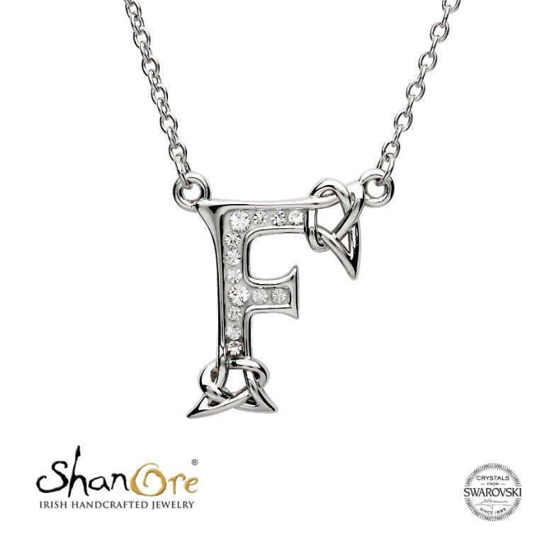 925 Sterling Silver Celtic Initial Letter T Necklace Knot Initial Name NEW