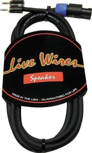 Live Wire Elite 12-Gauge Speakon-Banana Speaker Cable 100 Foot by ...