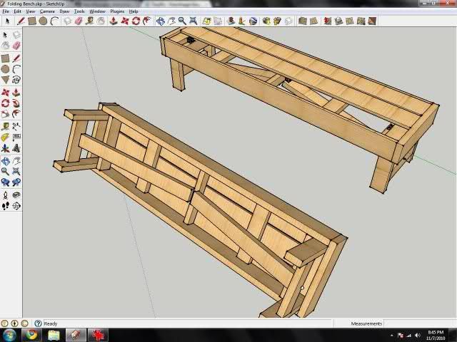 Folding Bench   For the Home   Pinterest   Bench and Hardware
