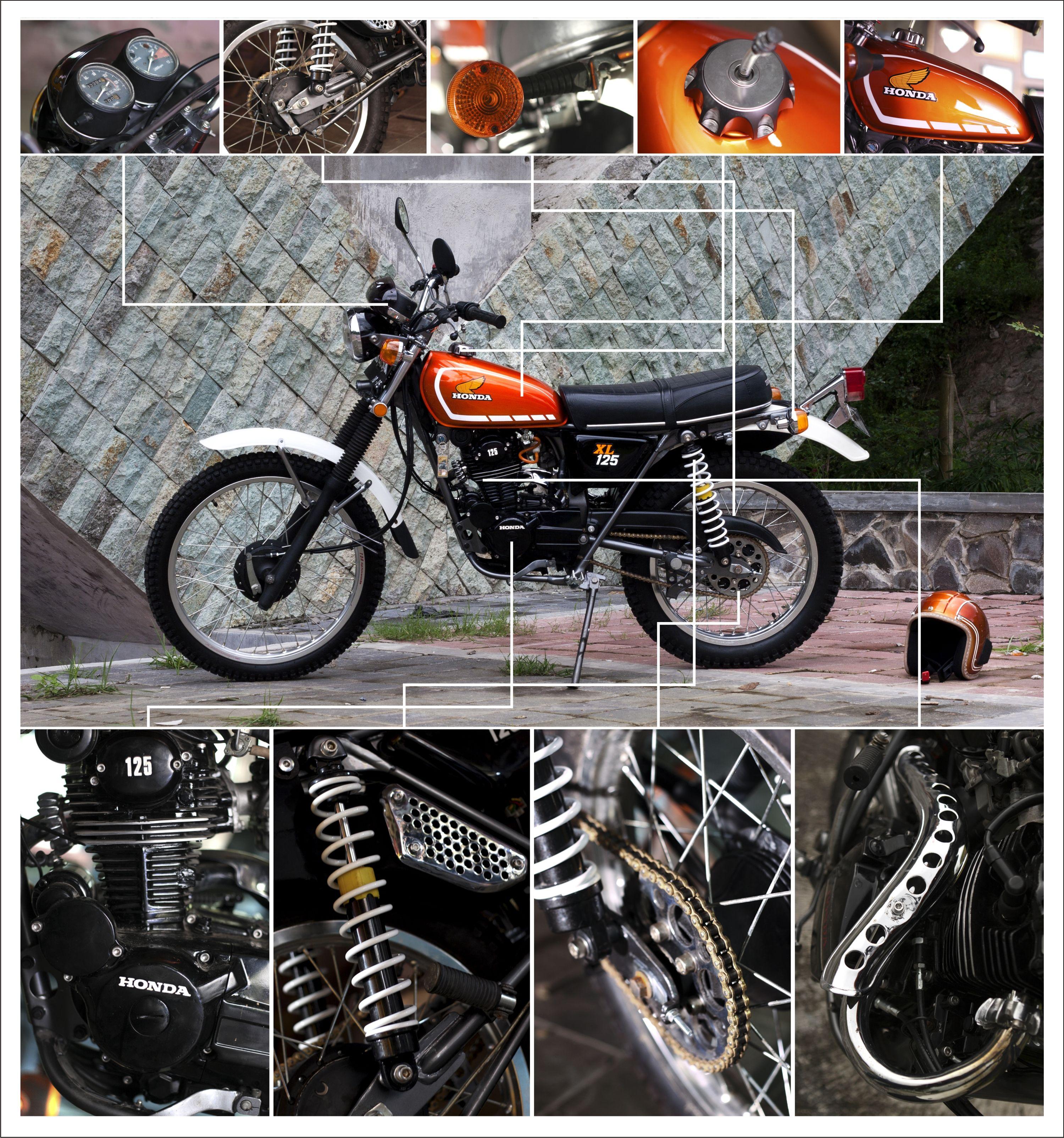 Restoration 1975 Honda Xl 125 Part S Paint Job Bore Up Engine